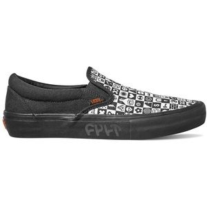 Vans x Cult Slip-On Pro Black Checker Sneakers